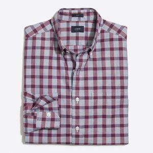 J. Crew NWT Slim Plaid Washed Shirt Size Medium